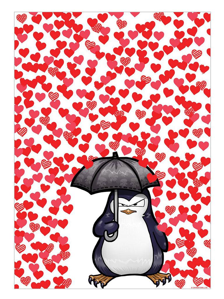 PSYCHO PENGUIN - I Don't Do Love Mini Poster