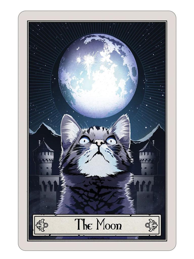 DEADLY TAROT - Felis The Moon Tin Sign