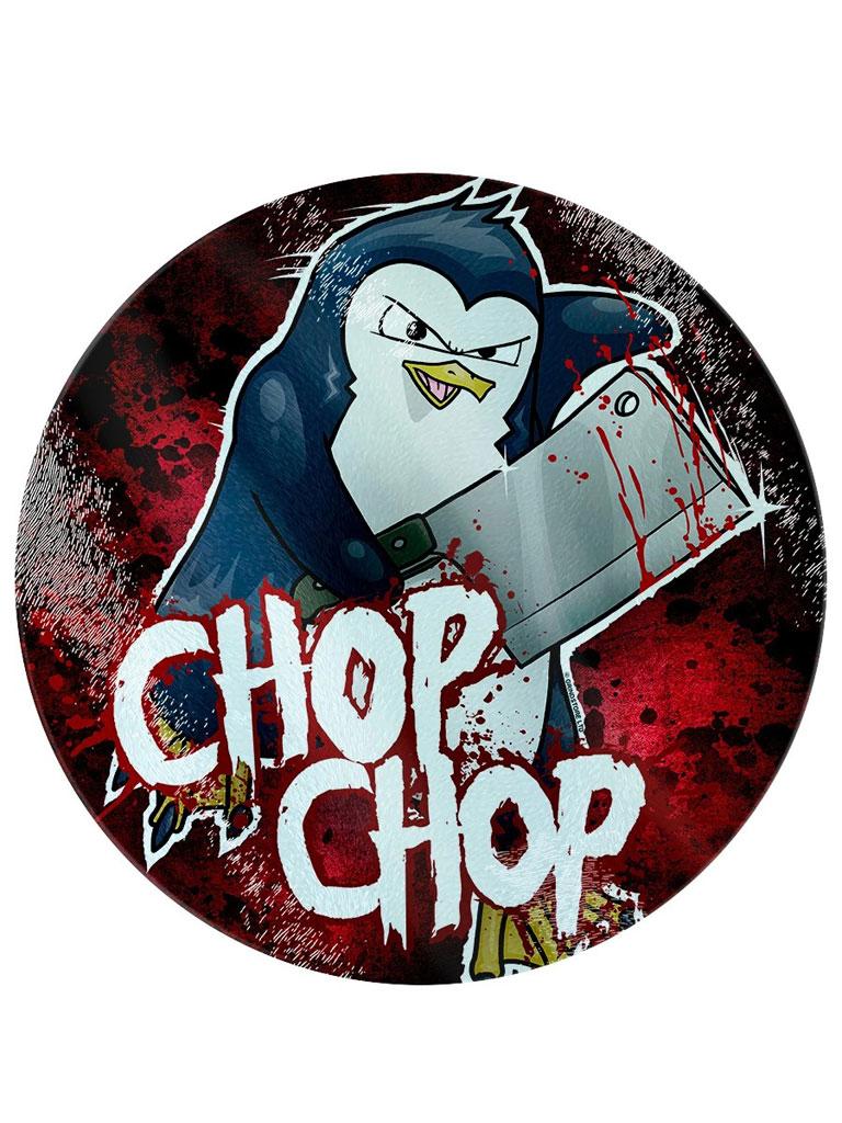 PSYCHO PENGUIN - Chop Chop Glass Chopping Board