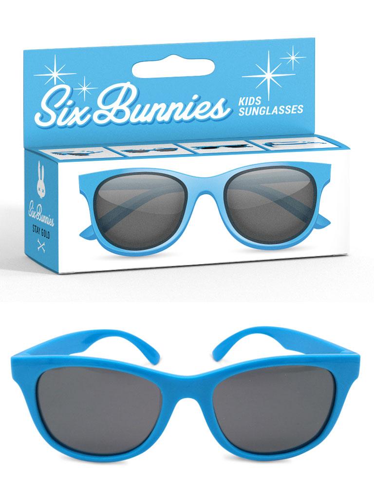 SIX BUNNIES - Wayfarer Solglasögon Blå