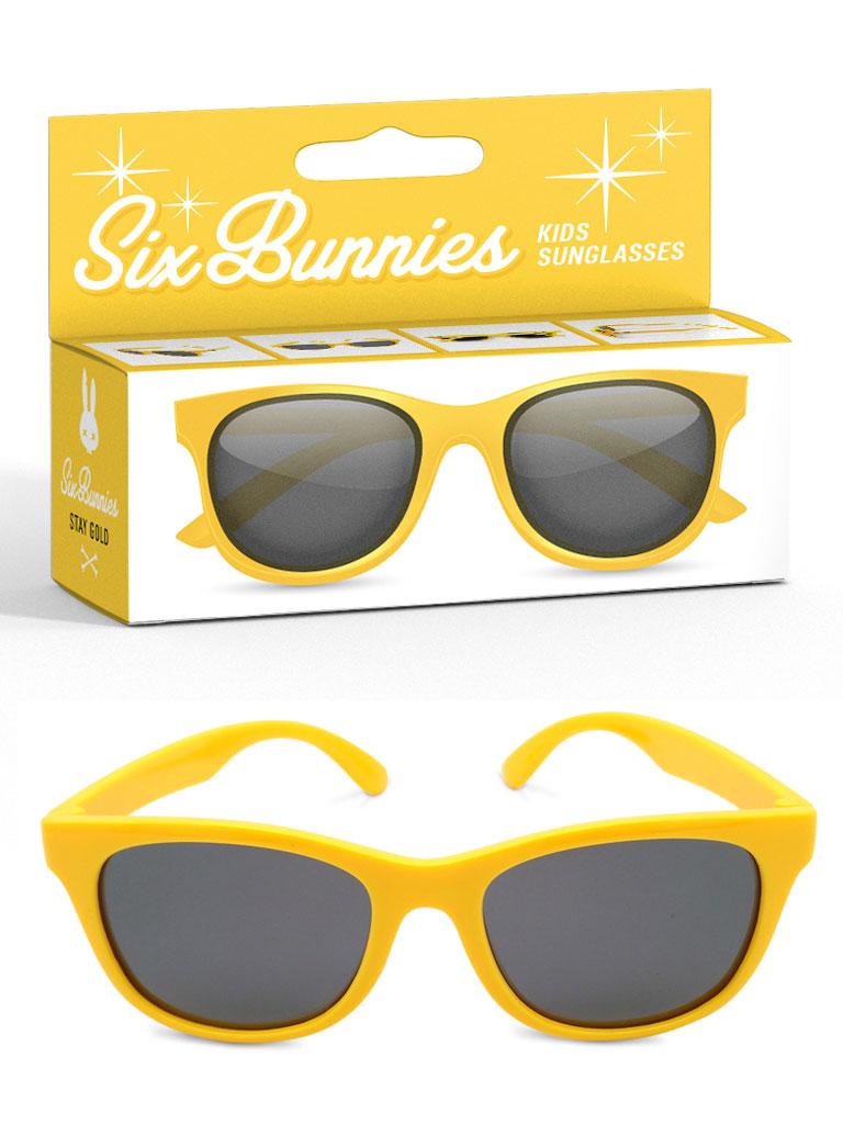 SIX BUNNIES - Wayfarer Solglasögon Gul