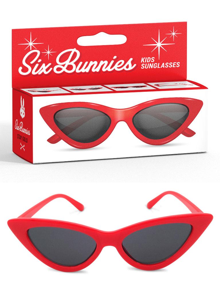 SIX BUNNIES - Cat Eye Solglasögon Röd