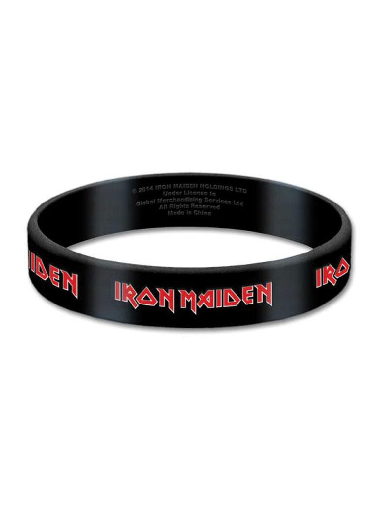 IRON MAIDEN - Tails Logo Armband Gummi