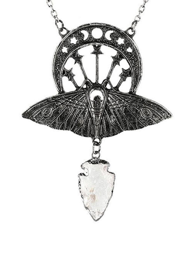 RESTYLE - Crystal Moon Moth Halsband